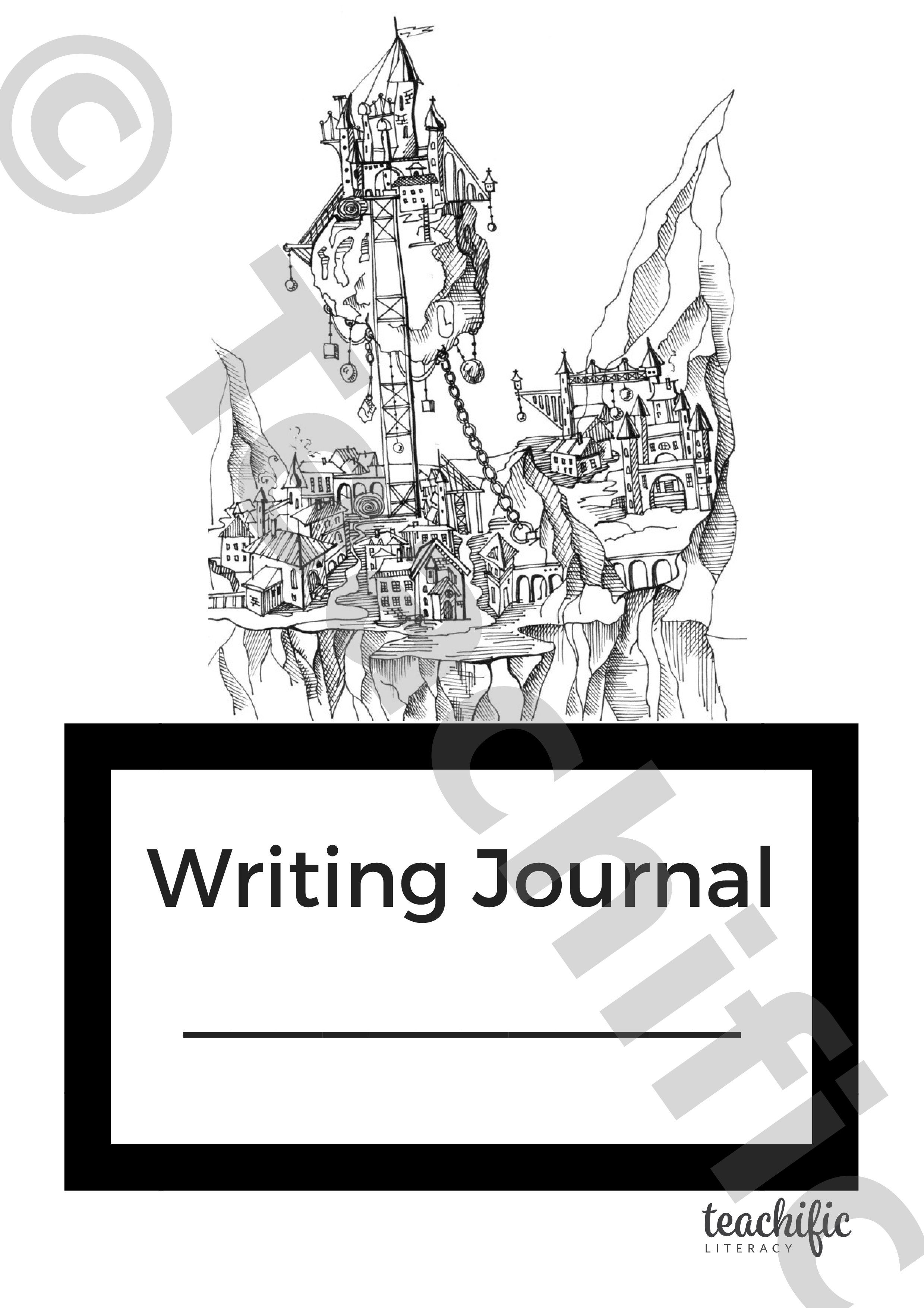 book cover: writing journal | teachific